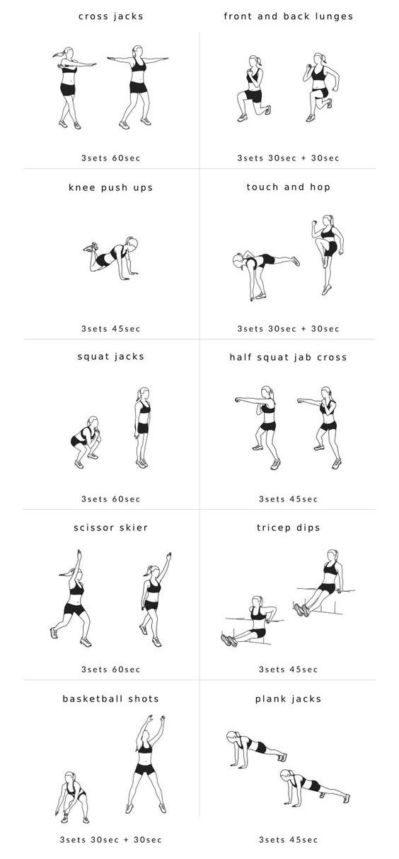 Full Body Bikini Bodyweight Circuit