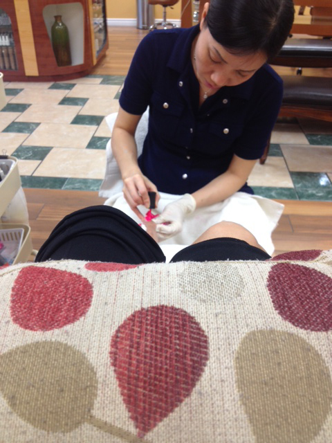 Getting a pedicure!