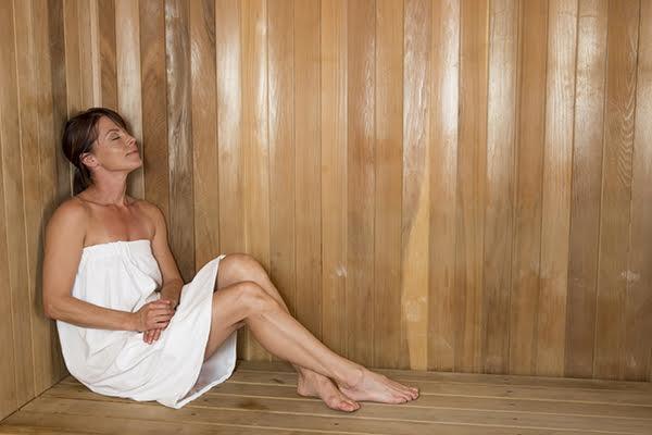 Sauna at Total Woman Gym + Spa