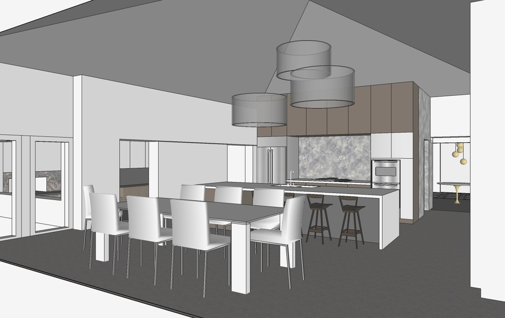 Schematic SketchUp 3D Model of Kitchen