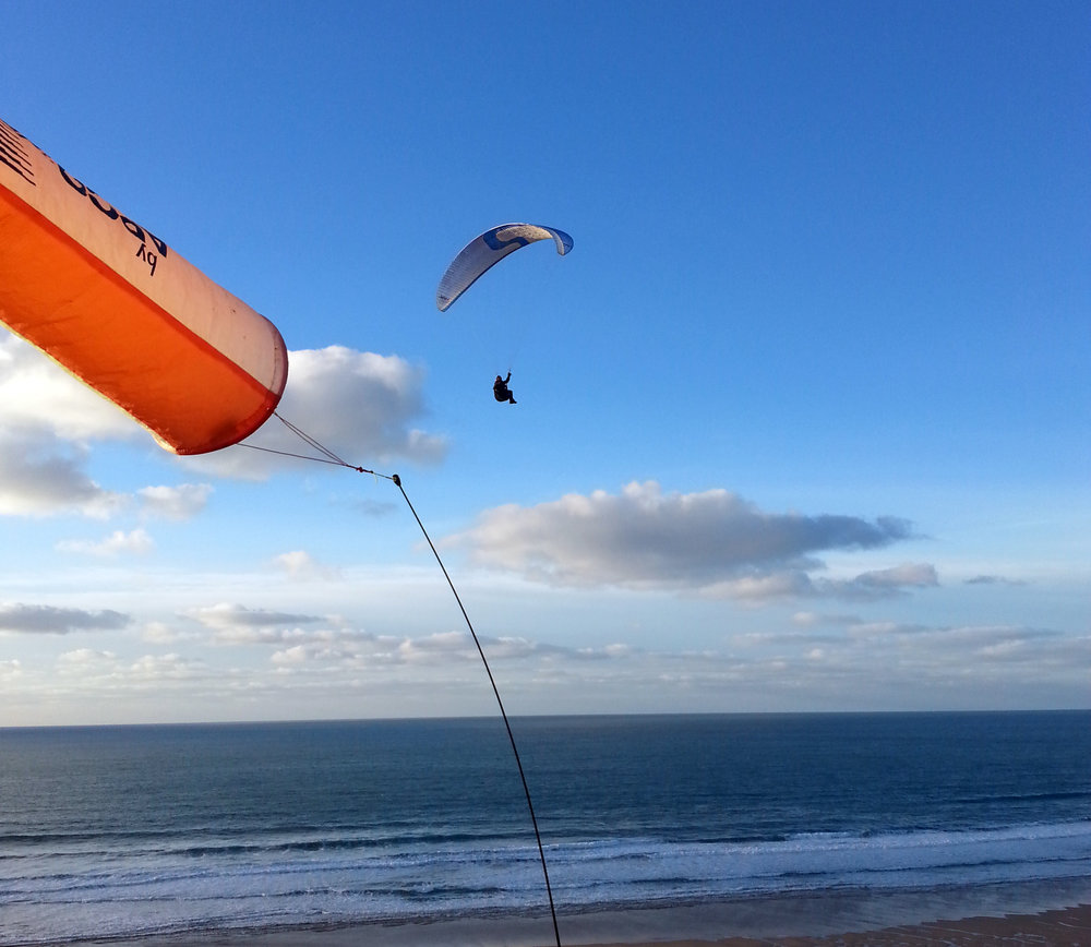Paragliding in Cornwall