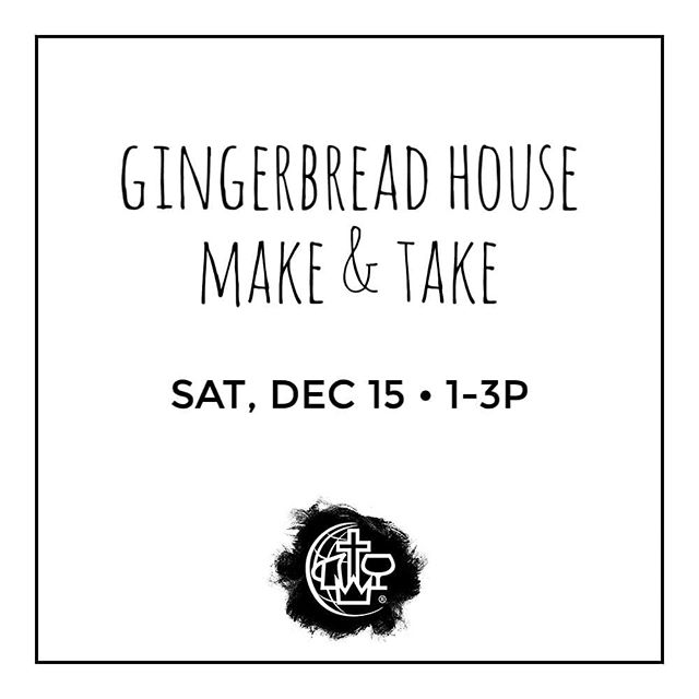 THIS SATURDAY, everyone is welcome to make a gingerbread house (1 per family), and take it home! 🏠🎄🍭🍬🍫 . NOTE: Old post had incorrect time, which has been removed. This post has the corrected time. Sorry! . . #eastbayalliance #cmalliance #oakland #thetown #eastbay #weloveoakland #gingerbreadhouse #makeandtake #wewalkbyfaith #godisfaithful #jesuslovesoakland #acts18family