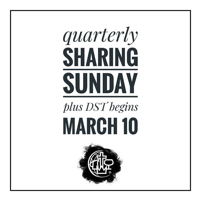 TOMORROW, we will have our quarterly sharing during our services. Also, don't forget Daylight Saving Time begins tomorrow. 😊 . . . #springforward #eastbayalliance #cmalliance #weloveoakland #oakland #oaklandloveit #wewalkbyfaith #jesuslovesoakland #acts18family #sundaysovermondays