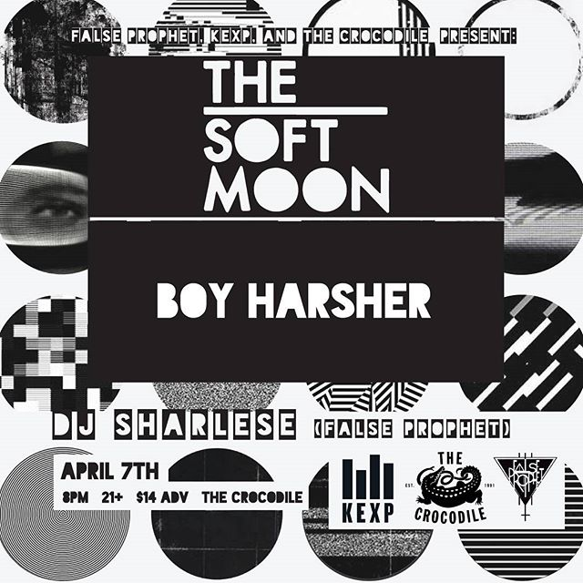 SAT APRIL 7TH!! False Prophet, KEXP and The Crocodile present The Soft Moon with Boy Harsher and DJ Sharlese (False Prophet) $14 8PM Ticket link in bio . . . . #thesoftmoon #boyharsher #kexp #thecrocodileseattle #synthesizer #darkdance #coldwave #ebm