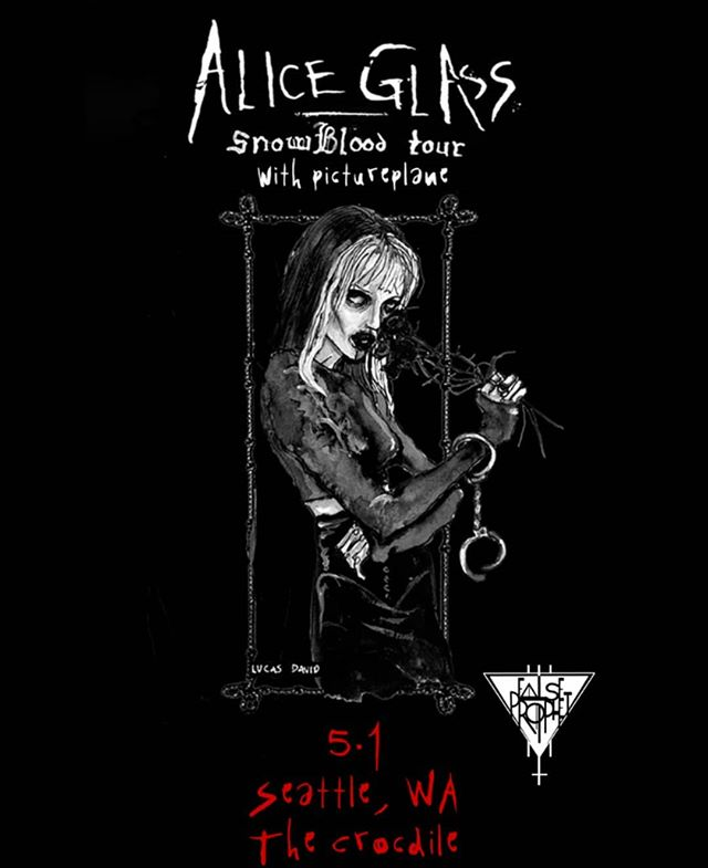5/1 False Prophet  and The Crocodile is proud to present SnowBlood Tour featuring Alice Glass with Pictureplane. DJ set by FP resident, Kate. $20 adv tix 8pm doors ALL AGES +Bar w/ID ***Ticket link in bio. . . . . . @thecrocodileseattle #falseprophetseattle #aliceglass #pictureplane #synth #synthesizer #darkdance #coldwave #ebm #electronic