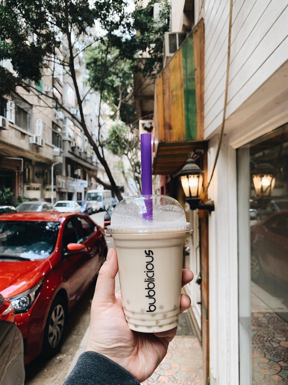 travel to egypt - food to eat bubble tea.JPG