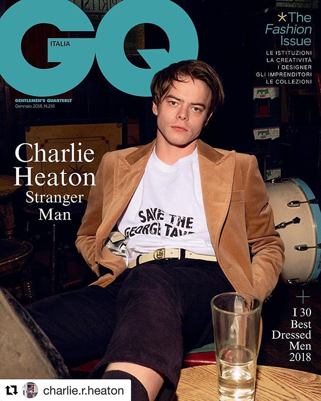 Been a while.  Happy new year y'all!  @charlie.r.heaton and @gqitalia with the 🔥🔥🔥.... #asyouare #gq #gqstyle #strangerthings #film