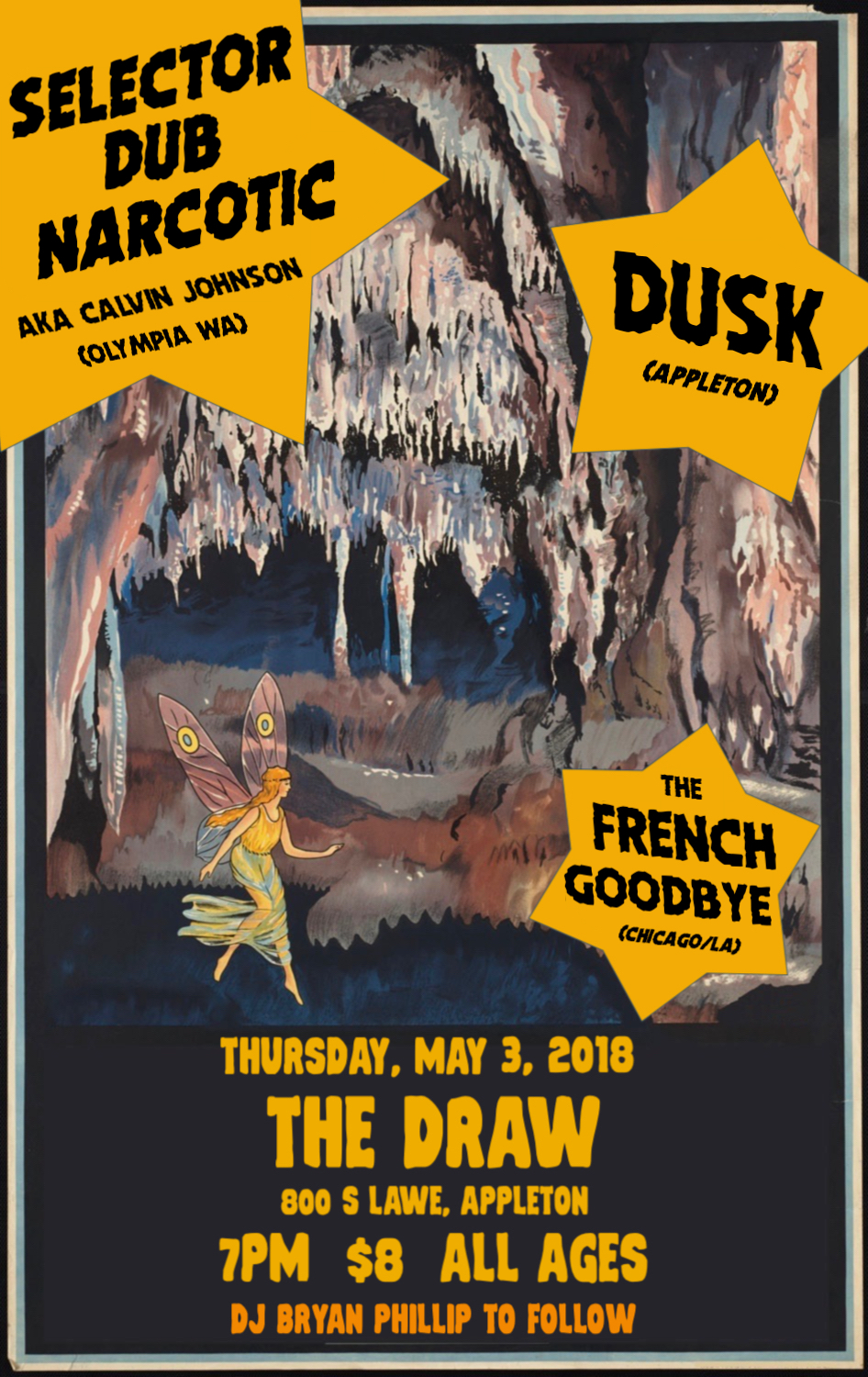 The French Goodbye VROOM! World Tour is ONE NIGHT ONLY at The Draw in Appleton, Wisconsin