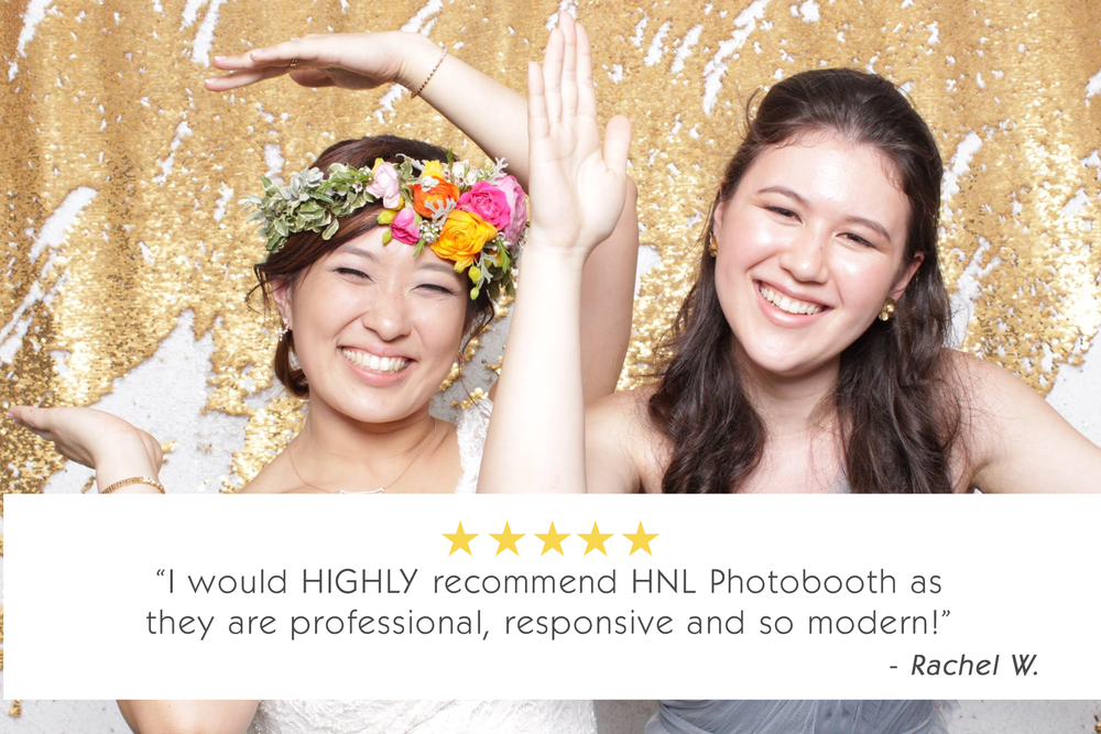 reviews party photo booth and wedding vendor services for honolulu oahu hawaii waikiki pearl city and kapolei