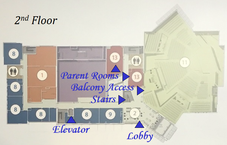 2nd Floor parent room and lobby/sitting area