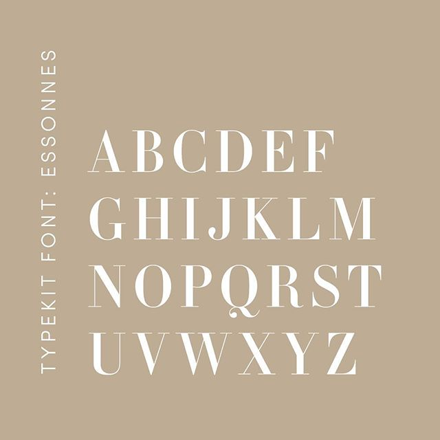 One of my current favorite fonts: Essonnes. I wrote a bit about it on the blog, and plan to showcase more fonts that can be found on Adobe Typekit! Link in profile.