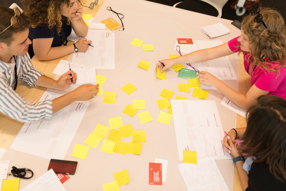 - Teams were given an open brief asking them to develop an idea that improved visitors' experience in one of three galleries in the museum. Throughout the workshop, they conducted user research on the floor, turned new insights into 'How Might We' questions to kick start ideation, created storyboards, and prototyped their ideas.