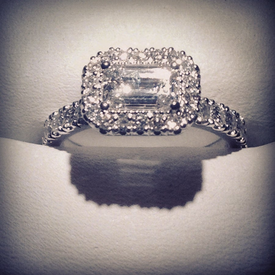 Emerald Cut Engagement Ring Reset