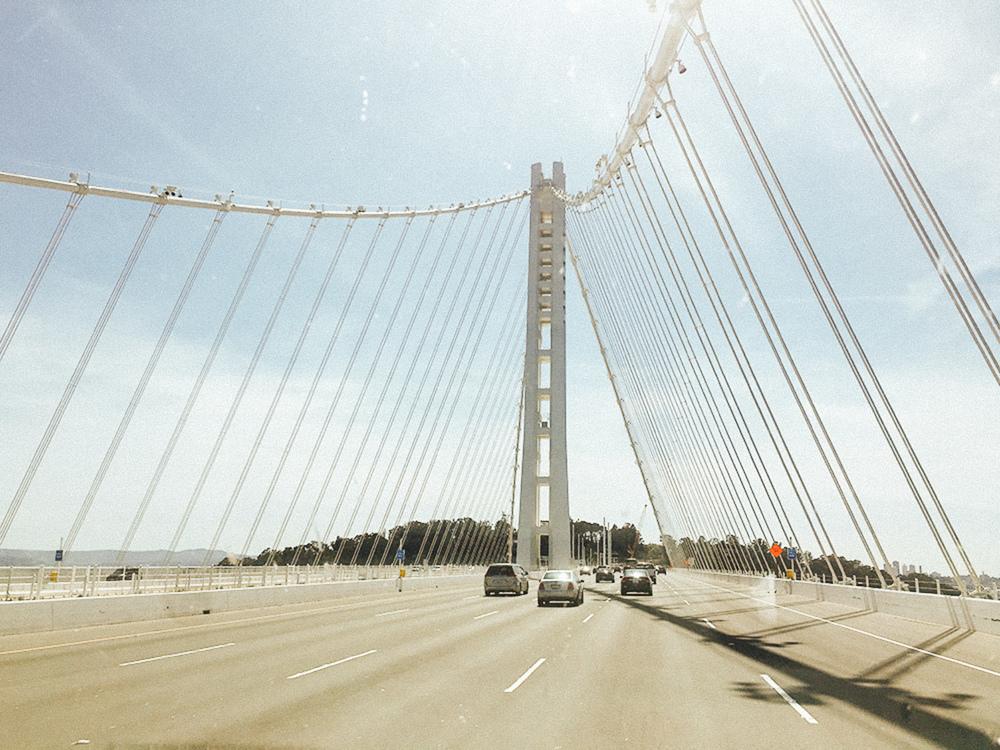 Last drive across the beautiful Bay Bridge.