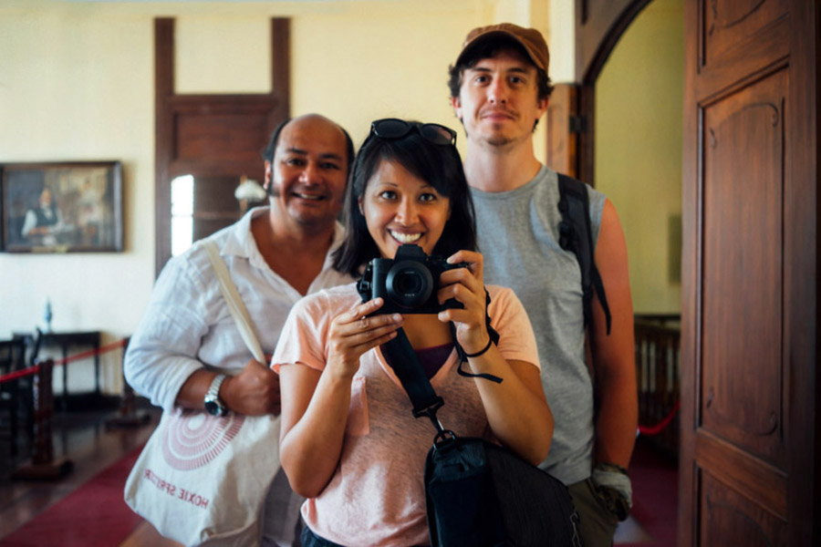 With Joe at the José Rizal House in Calamba, Laguna, Philippines.