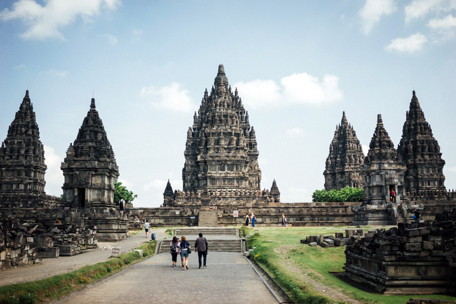 The amazing Candi Prambanan on the largest Hindu temple site in Indonesia, just at the border of Yogyakarta and Central Java.