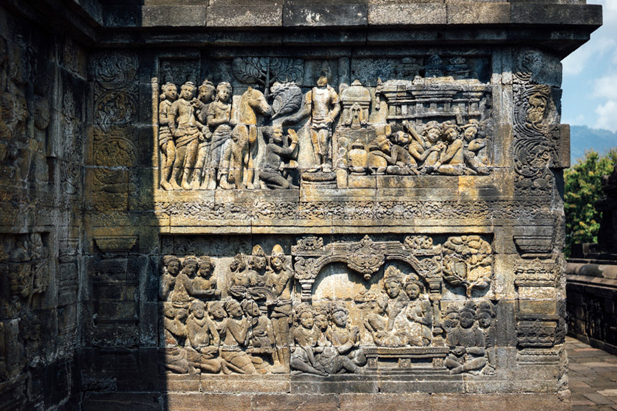 There are thousands of stories carved into the stone walls of Borobudur.