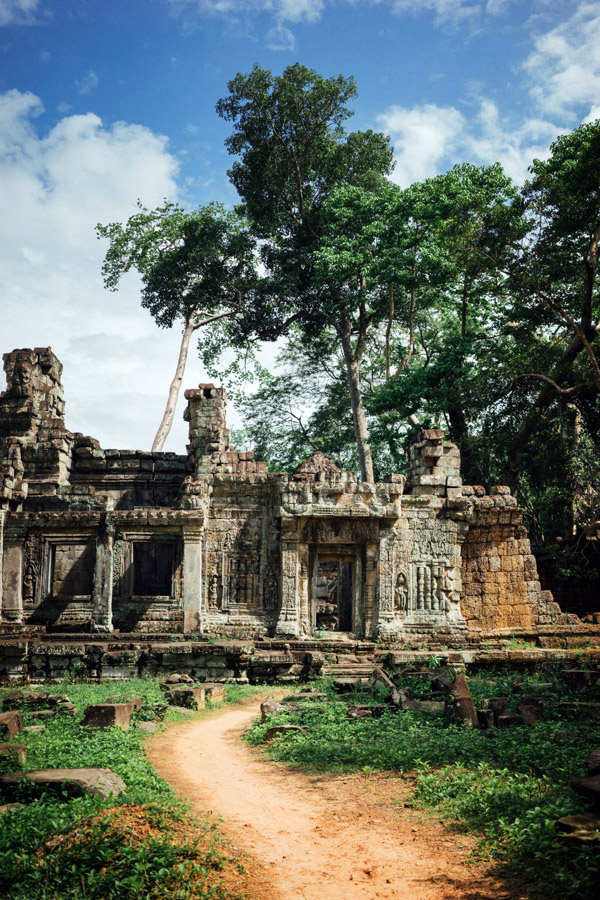 There are countless paths and ruins to explore here in Angkor.