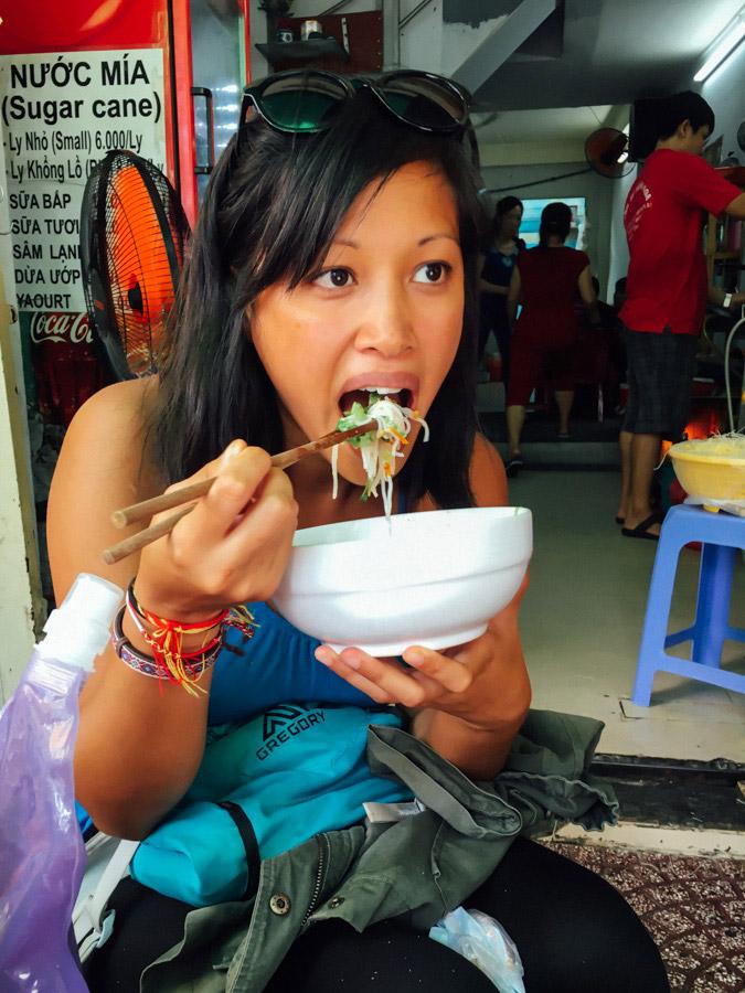 Slurping noodle bowls all day.