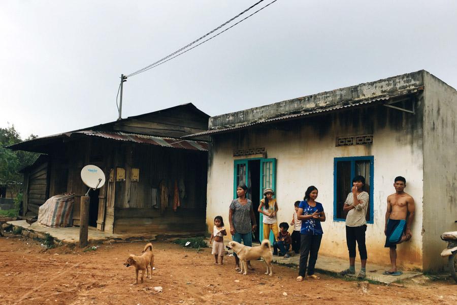 A humble Mnong village home.