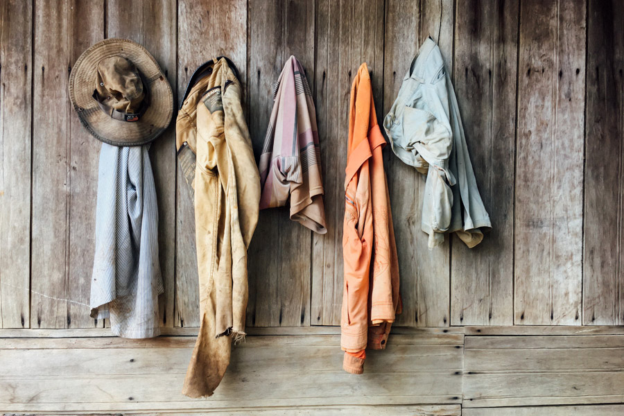 At our first village we saw these clothes likely retired from a hard day's work.