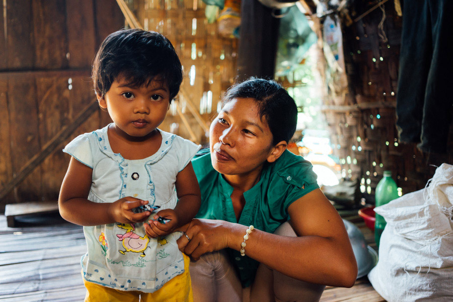 At the minority villages, women often marry in their late teens and begin having children shortly after. We're unsure of this woman's age, but we did meet one who was only 22 years young and already a mother of three. They are kind, humble people who value family and community, above all.