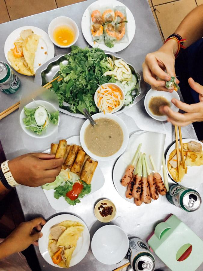 Feasting on Nem Nướng.