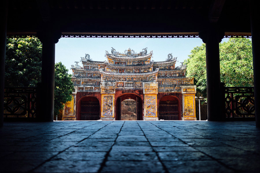This monument was the first site we visited in the Imperial City. Called the Hien Lam Pavilion, meaning Pavilion of the Glorious Coming, it set the stage for the rest of the impressive structures in the walled fortress.
