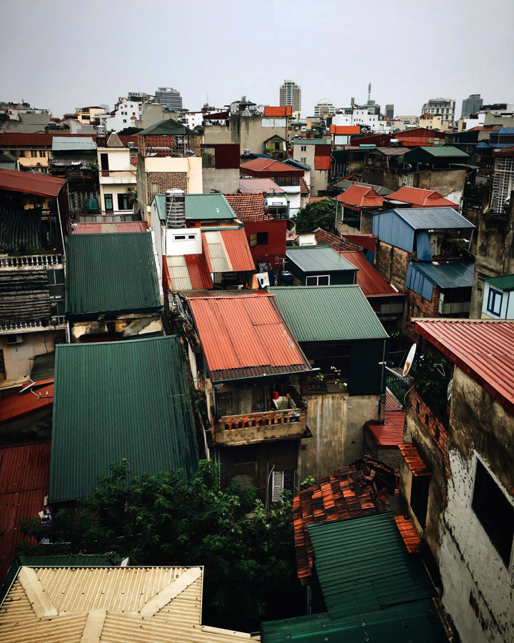 Rooftops of Hanoi.