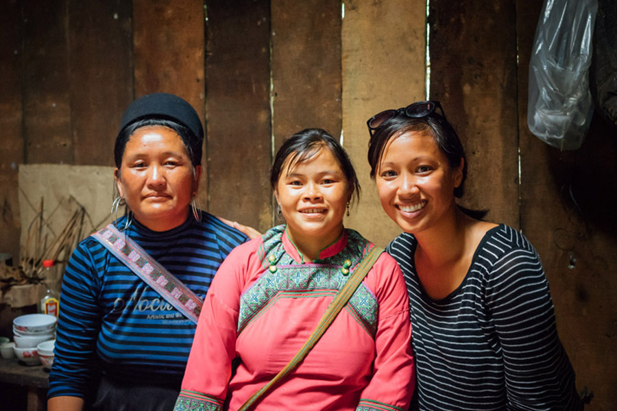 Madie with Pế's mother and aunt.