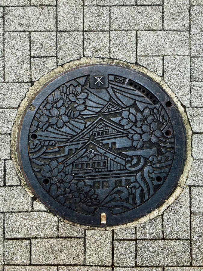 Even the manholes are pretty here. I was searching for the history behind these, and read that the artful designs on the visible part of the sewer system were created so that the people would accept the network's high cost.