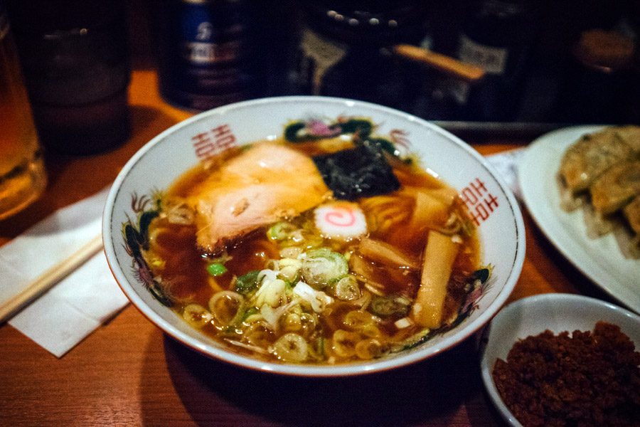 One of many bowls of ramen.