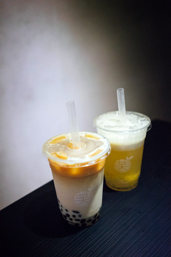 We couldn't get enough milk tea.