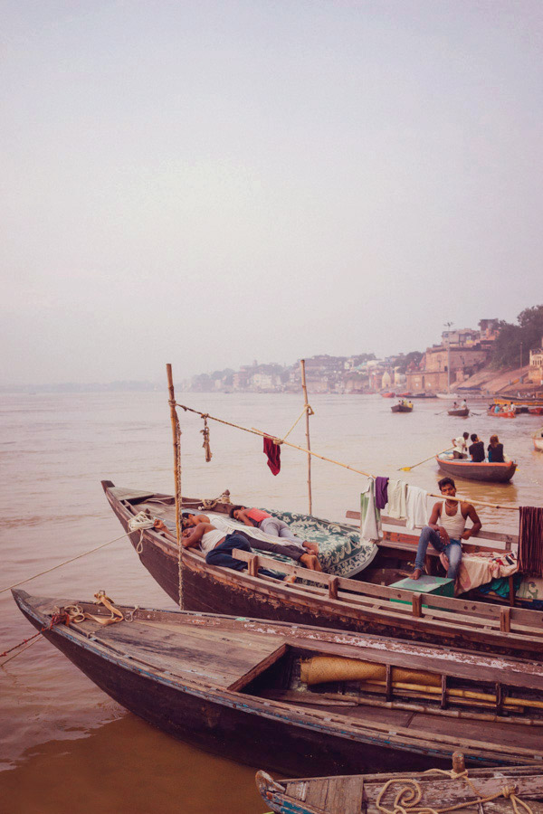 Boats on the Ganges.