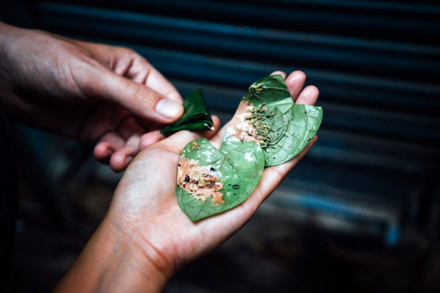 Paan. For only 5 rupees each, it's no question how easily one can become addicted to this stimulant.