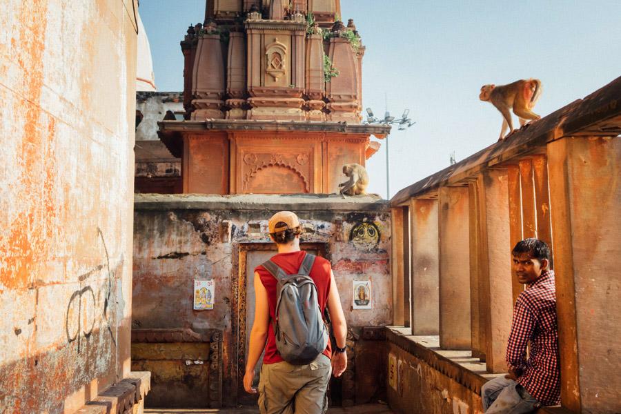 The streets of Varanasi.