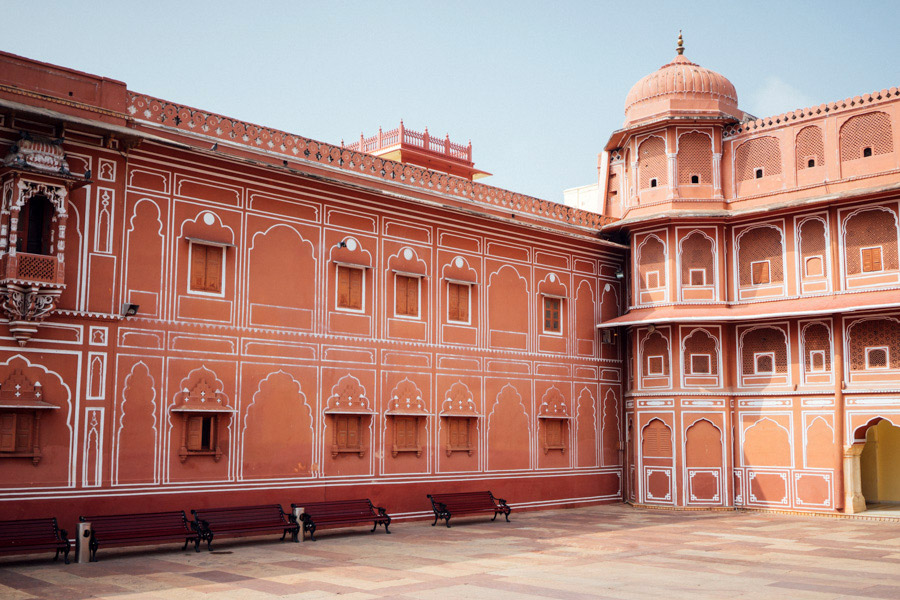 Inside the Pink City's City Palace Walls.