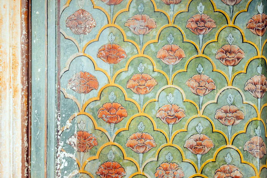 Beautiful colors and details within Jaipur's City Palace walls.