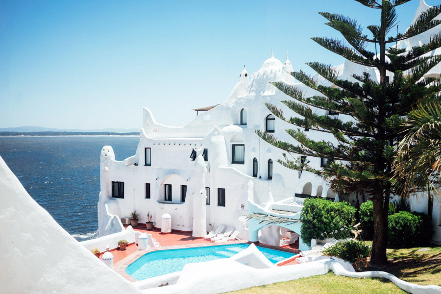 About 13 kilometers north of Punta del Este is a crazy white complex created by artist Carlos Páez Vilaró. Built on the coastal hillside, it houses an art gallery, museum, cafes, and a hotel, and is a surrealist version of the houses in Santorini.