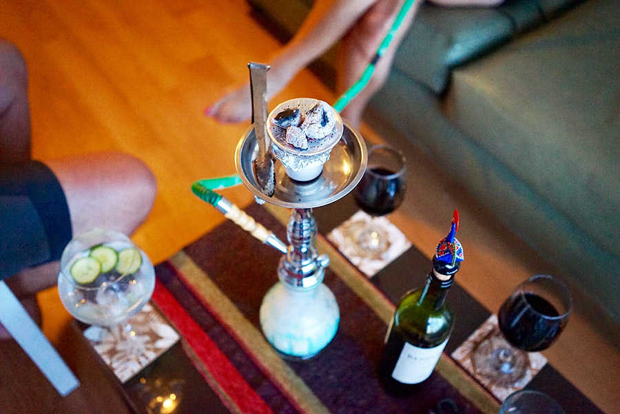 A bit of hookah and wine for old times' sake.