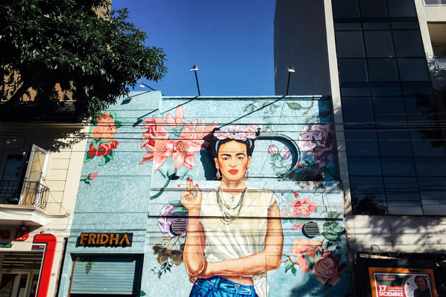 Hipster Frida in Palermo.