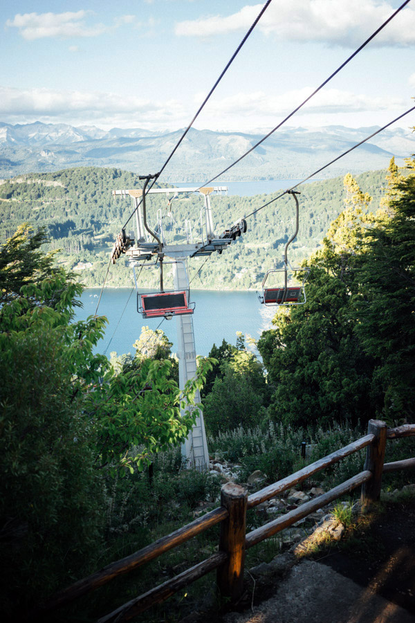 Summer ski lifts.