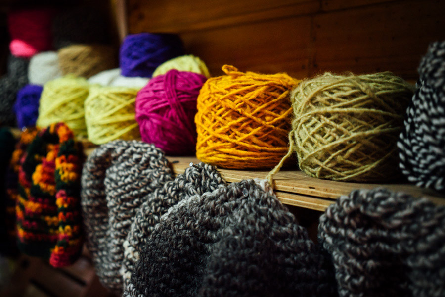 There are so many sheep roaming the hills of Chiloé, there will never be a shortage of colorful wooly things to keep everyone warm.