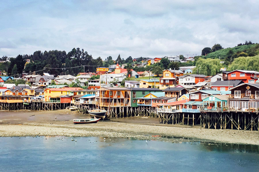 Palafitos: the wooden stilt houses in Castro, Chiloé that were built to withstand the dramatic rising tides.