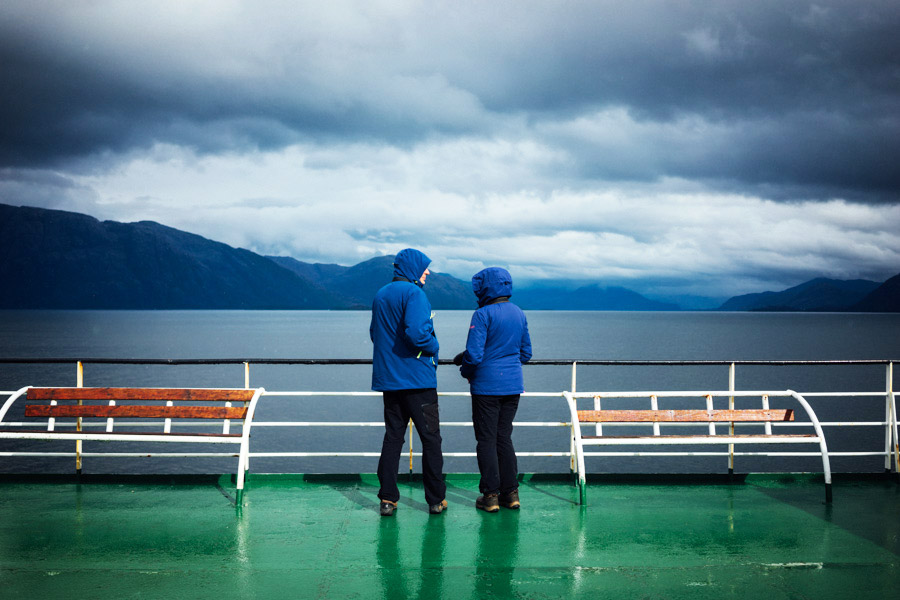 Fellow shipmates on deck. There was a constant cycle of rain and shine through the Patagonian channels and fjords.