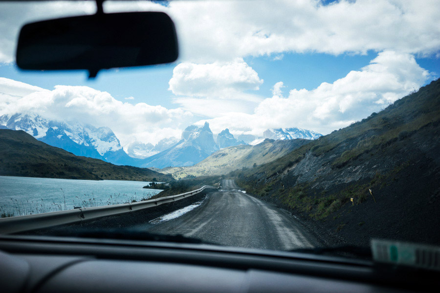 Traveling through Torres Del Paine National Park in Patagonia.