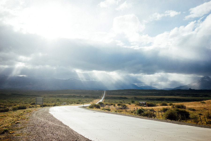 Long roads, beautiful views, rays of light.