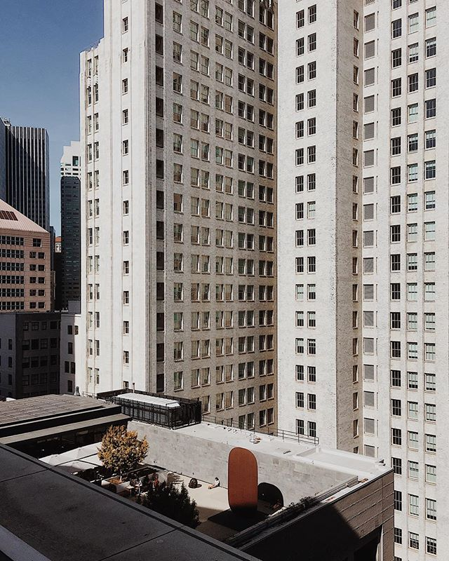We are back in the Bay Area (been for a few months now), but we are no longer city folk. Somehow we're ok with that. One thing we miss, though: MUNI rides to @SFMOMA. Back in the day when the weather was nice, Madie would sit on this rooftop courtyard with a coffee after class. ----- #sfmoma #sanfrancisco #california #visitcalifornia #vsco #vscocam #vscotravel @sonyalpha #sonyimages #sonya7ii #35mm