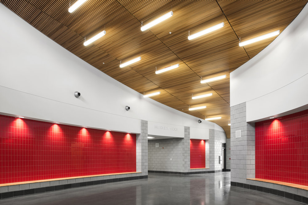 We will feature our recently completed project, Fairview Independent High School at our booth this year!