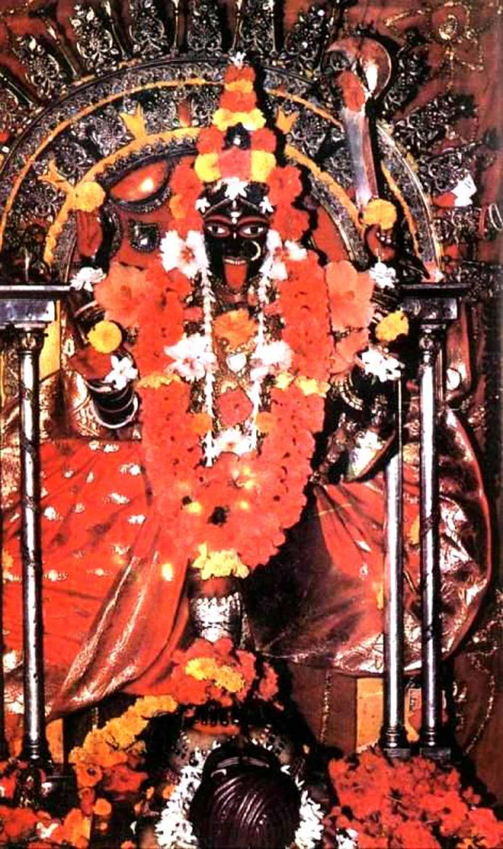 Dakshina Kali, Bhavatarini Ma in Dakshineshwar Temple, Kolkata, India.